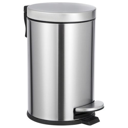 1.2 Gallon Round Garbage Container Bin Trash Can Bathroom Bedroom Kitchen Office General Household Supplies