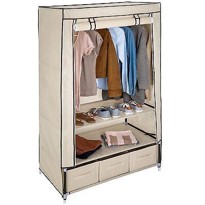 Armario de tela ropa ropero organizador guardarropa plegable 3 compartimentos NU