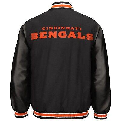 NWT NFL Men's Varsity Jacket - Cincinnati Bengals Coat MEDIUM