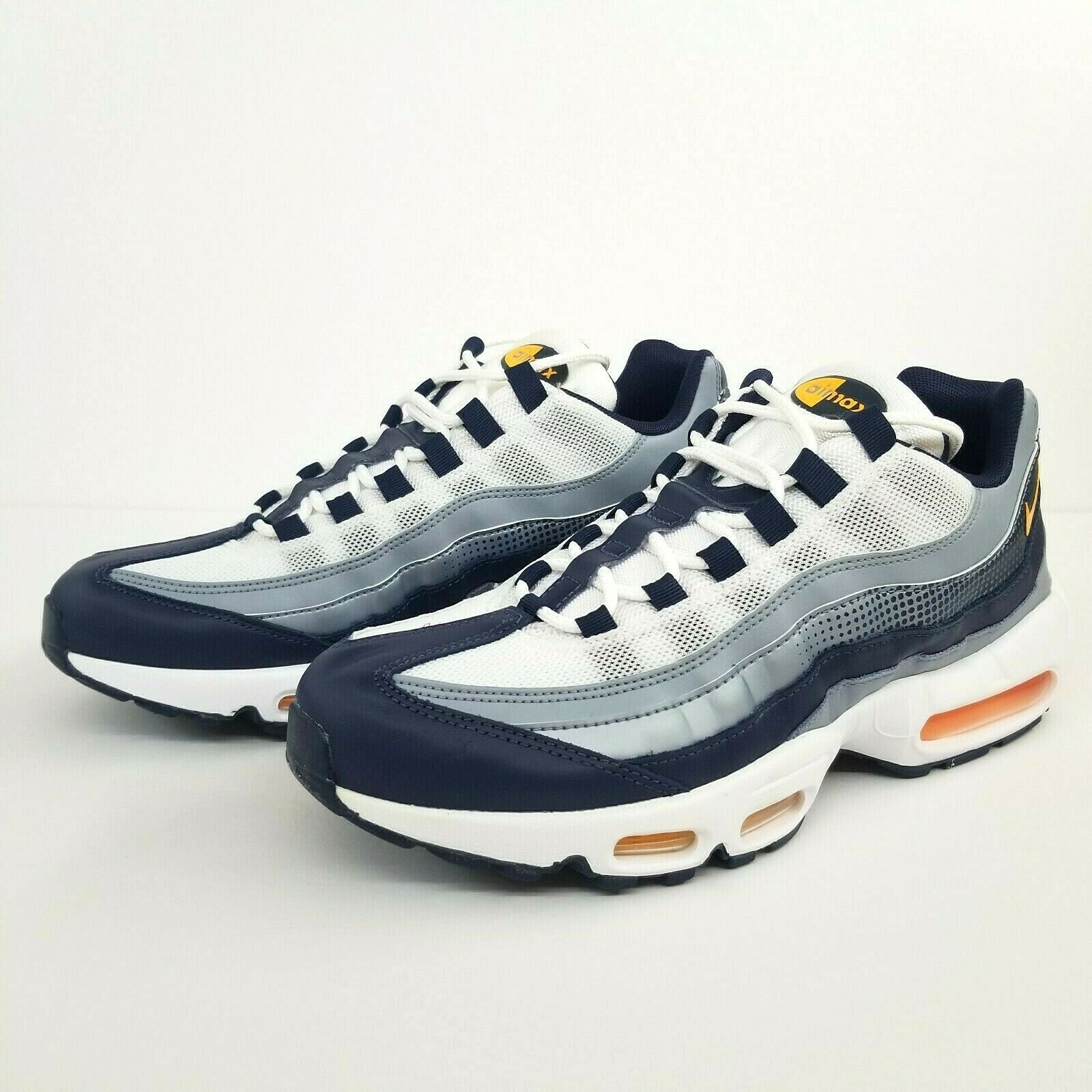 Nike Air Max 95 SE AJ2018 401 Navy Laser Orange White New Men's Running Shoes