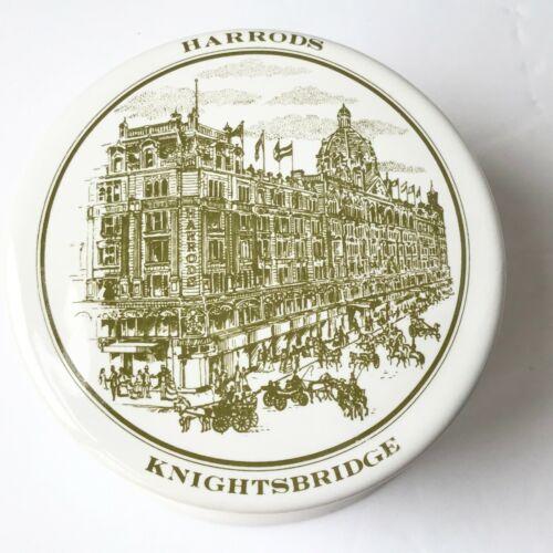 Vintage Harrods Knightsbridge Trinket Box Jewelry Tea Food Ceramic Round London