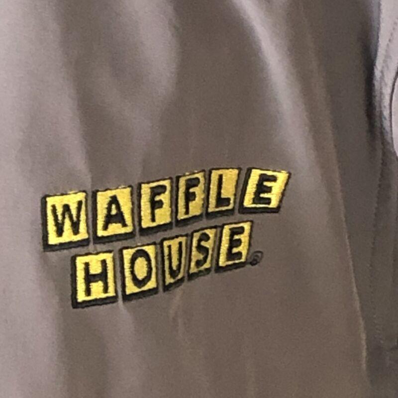 Rare Waffle House Logo Windbreaker Full Zip Jacket Charles River Apparel Large