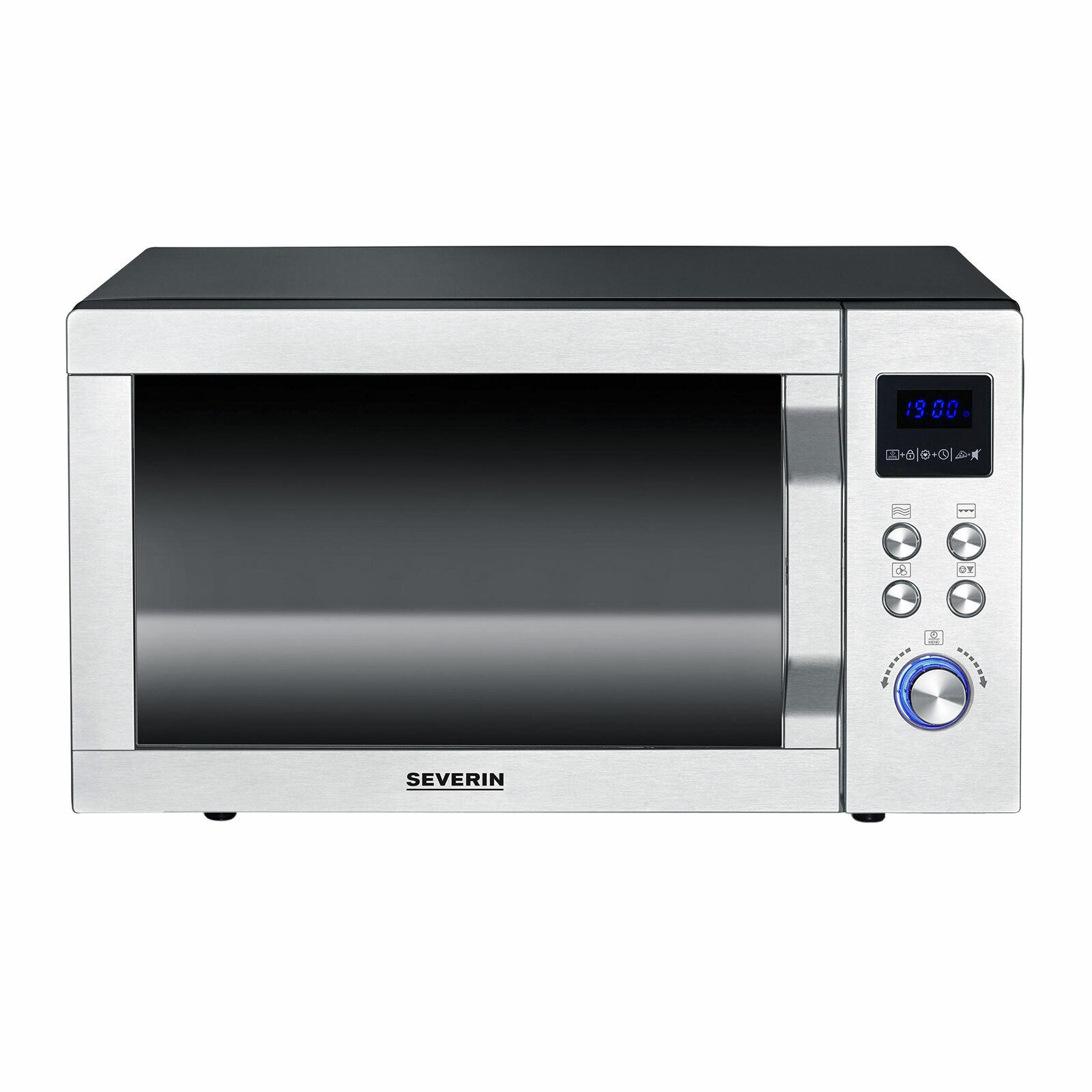 Severin MW 7759 Mikrowelle 4 in 1 Doppelgrill Pizza-Express Funktion Edelstahl