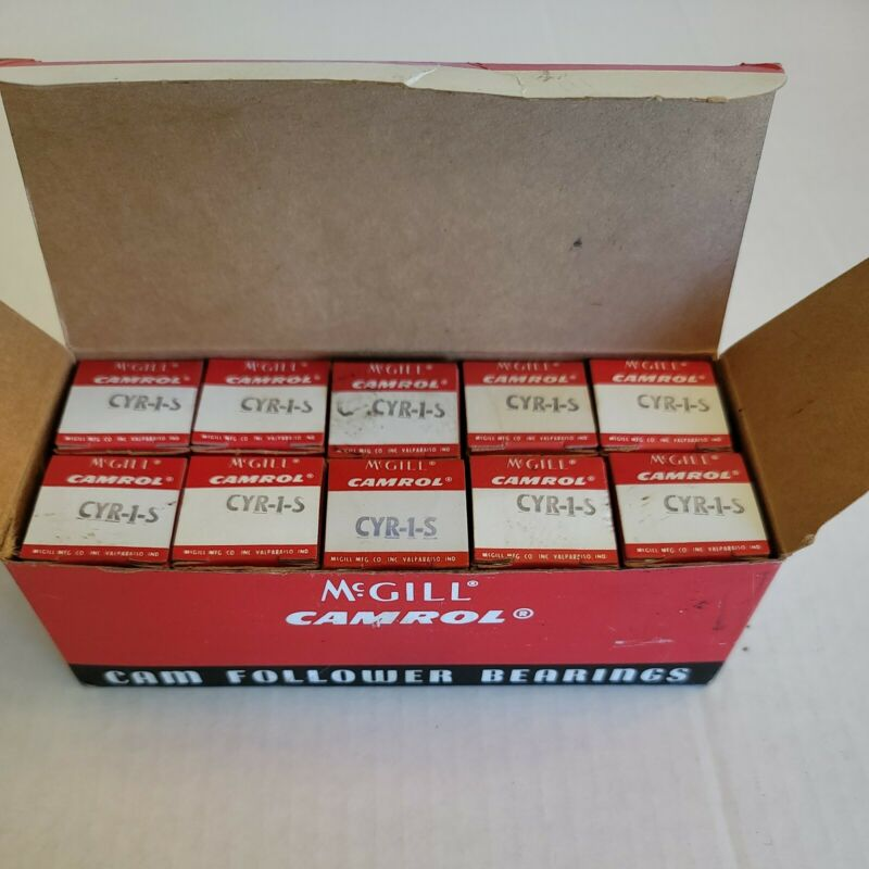 Box Of 10 McGill CYR-1-S Camrol Cam Follower Bearings NOS New Old Stock
