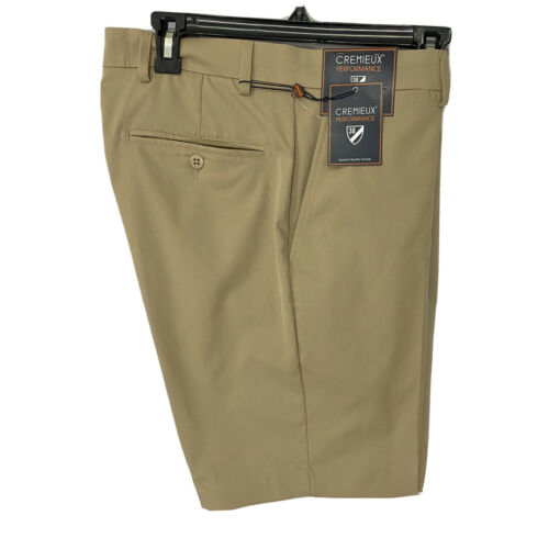 """Cremieux Mens Performance Atwood Khaki Shorts 42 Flat Front 9"""" $69 Golf Clothing, Shoes & Accessories"""