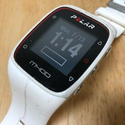 Polar M400 Mens Black White Digital Fitness Tracker Quartz Smart Watch Hours comprar usado  Enviando para Brazil