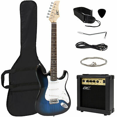 BCP 39in Beginner Electric Guitar Kit w/ Case, 10W Amp, Trem