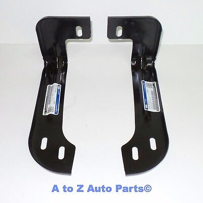 Ford F250,F350 Super Duty LH & RH Inner Mount Fr. Bumper Brackets (Set of 2),OEM