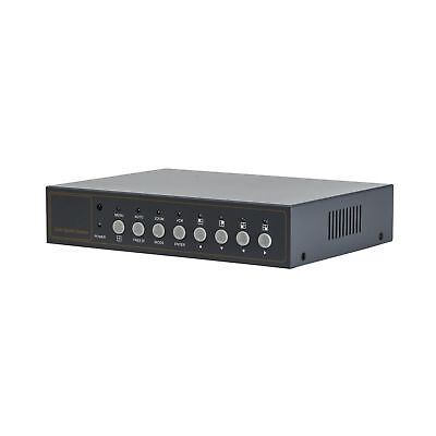 Video Quad Color 4CH Multiplexer 2 BNC Output with Loop, Remote Control and F...