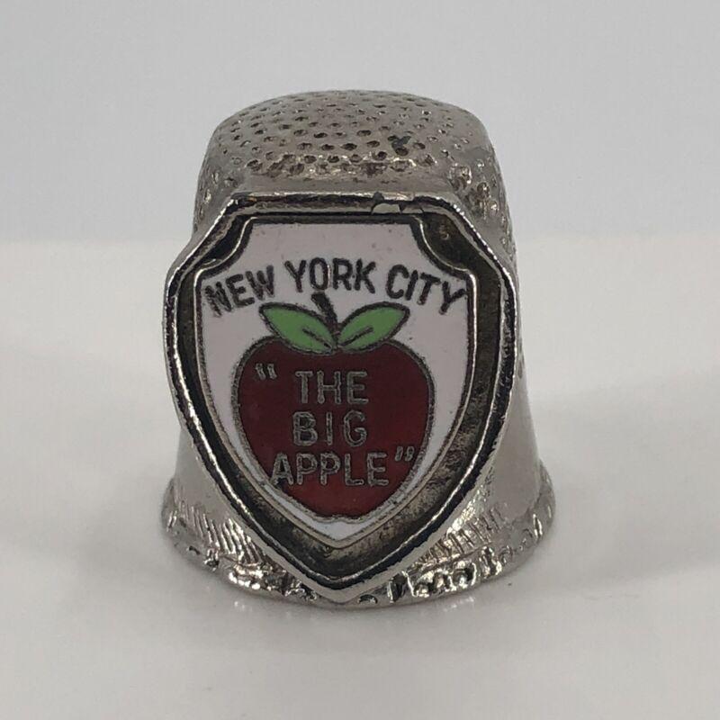New York City The Big Apple Souvenir Metal Thimble by Fort