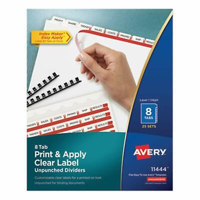 Avery Print Apply Clear Label Dividers With Index Maker Easy Apply Printable - $84.46