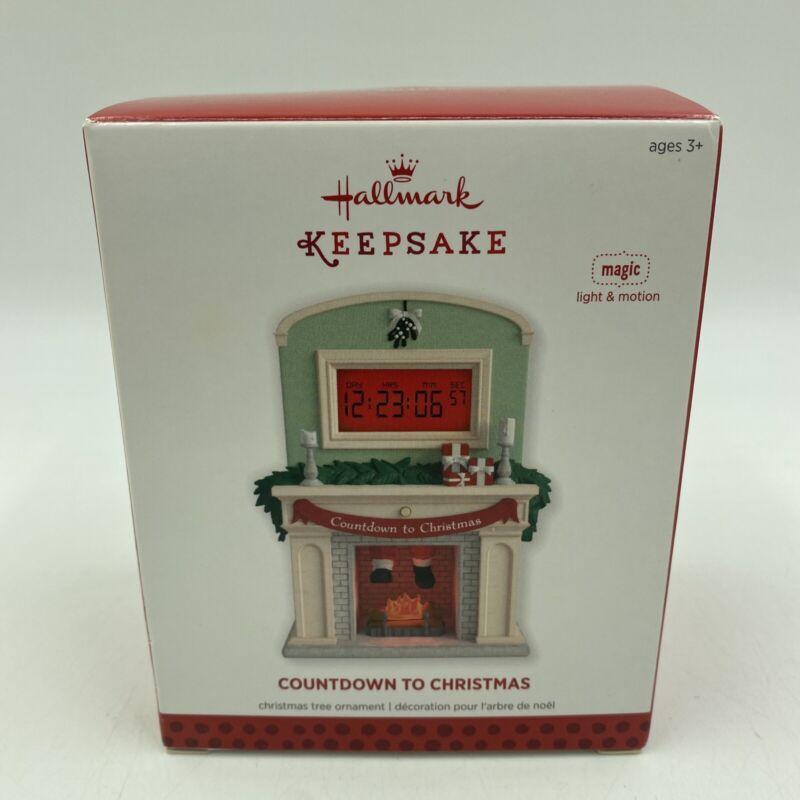 Hallmark Keepsake Ornament Countdown to Christmas 2013 Fireplace Santa NEW