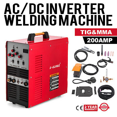 200A IGBT Square Wave AC/DC TIG/Stick Inverter Welder Alumin