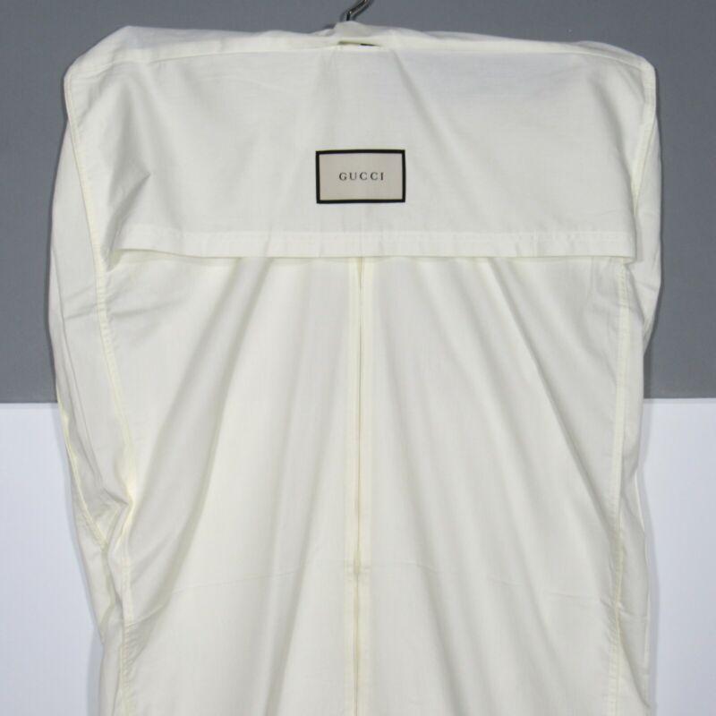 "GUCCI Garment Bag Dust Cover Ivory 42"" Long x 27"" Wide x 3"" Depth"