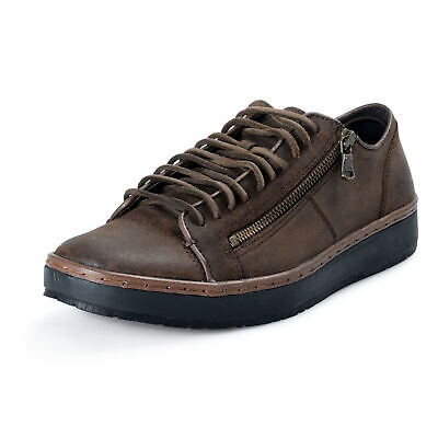 John Varvatos Star USA Leather Barrett Creeper Zip Low Casual Shoes US 8.5 10.5 Leather Star Creeper Shoe
