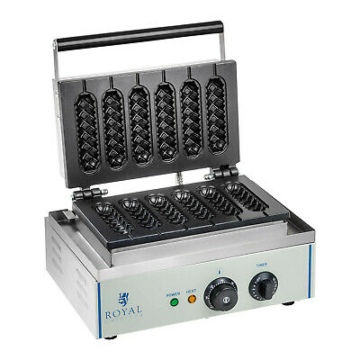 Hot Dog Waffle Maker Stainless Steel Waffle Iron Corn Dog On A Stick 6 Pcs 1550W, used for sale  Shipping to Ireland