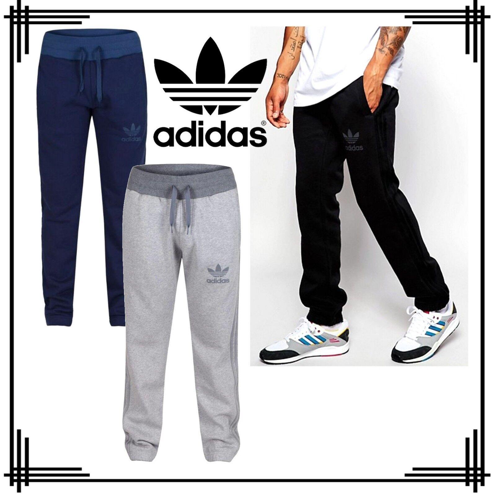 4c2da07b273c adidas Originals SPO Trefoil Sweatpants Mens Tracksuit Trousers Black Grey  Navy