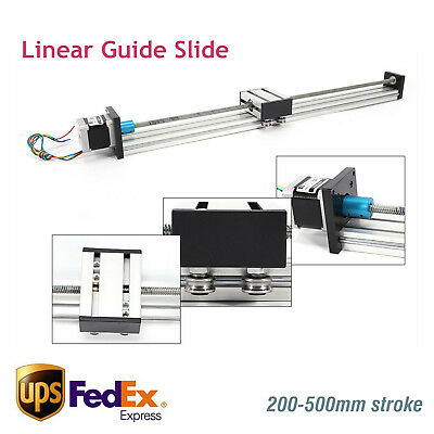 200-500mm Cnc Linear Slide Sliding Guide Sliding Block W Stepper Motor 4257 Us