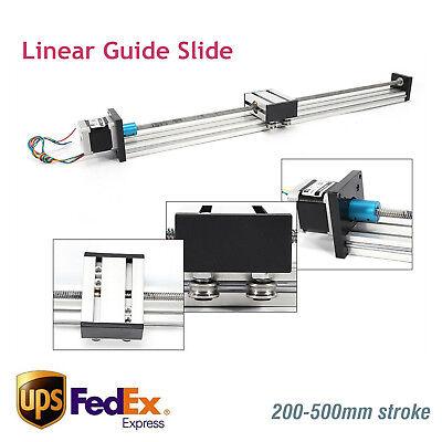 200-500mm Cnc Linear Slide Sliding Guide Sliding Block W Stepper Motor 4257 Us