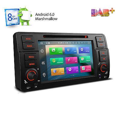 ANDROID 6.0 OCTA-CORE AUTORADIO FÜR BMW E46 GPS NAVI DVD CD USB SD BT WiFi DAB+