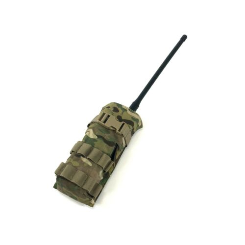 Harris 152 Multicam Radio Pouch, Tactical MOLLE OCP, Drop Down Window
