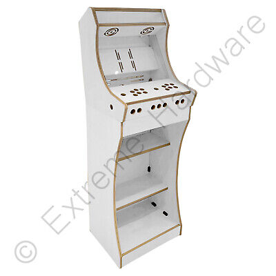 "BitCade 2 Player 19"" Bartop & Stand Arcade Machine Cabinet Flatpack Kit - White"