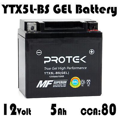 YTX5L-BS YT5L-BS YTZ7S Motorcycle Dirt Bike 12V 5Ah Sealed GEL Battery ATV UTV