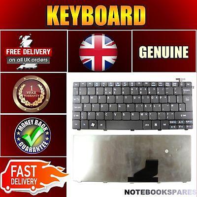 ACER ASPIRE ONE D255E-12815 Notebook Keyboard Matte Black UK Layout