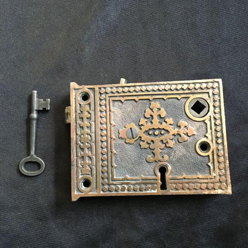 Antique  Russel & Erwin FANCY RIM LOCK