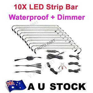 10 Bar 12V Linkable Rigid LED Camping Kit bag Camper Cabinet Strip Light AU Ship