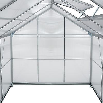 Alu Gewächshaus 7,6m³ Gartenhaus Tomaten Treibhaus Frühbeet Garten Pflanzenhaus