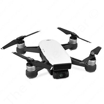 DJI Spark Alpine White Quadcopter Drone - 12MP Full HD 1080p Video No Remote