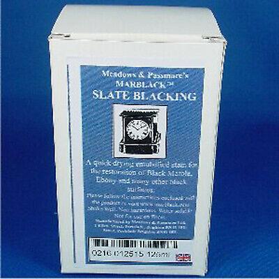 MARBLACK SLATE BLACKING 125ml Black stain for French marble clocks