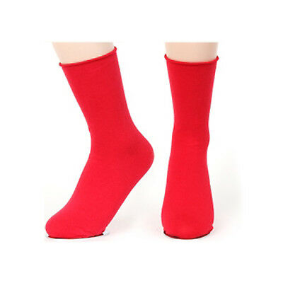 New Korea Fashion Roll Top Solid Color Ankle Socks Cotton Casual Socks Red