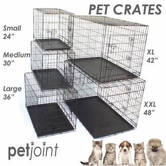 Dog Crate Kennel Pet Puppy Pen Metal HeavyDuty Cage Cover Divider
