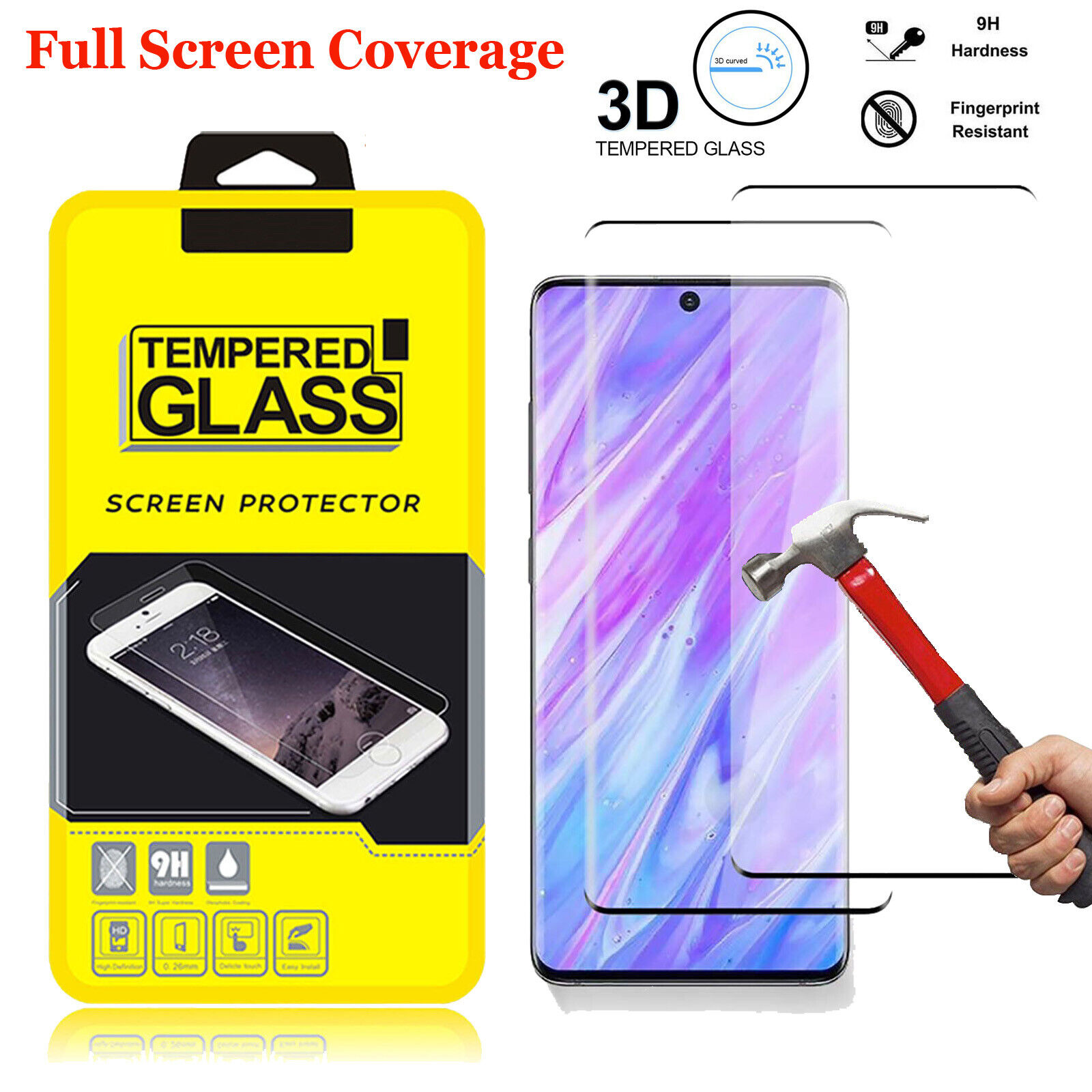For Samsung Galaxy S20 Plus / S20 Ultra Full Tempered Glass Screen Protector Cell Phone Accessories