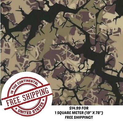 Hydrographic Water Transfer Hydro Dip Film Tree Army Camo 1sq 19 X 78