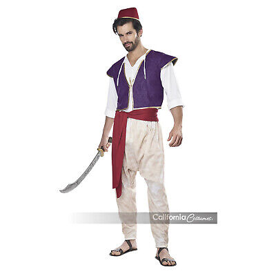 Adult Mens Arabian Prince Aladdin Folk Hero Halloween Cosplay Costume Vest Pants](Arab Costume Halloween)