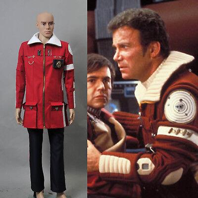 Star Trek II The Wrath of Khan Admiral Kirk Field Coat Pants Cosplay Halloween
