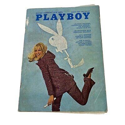 Playboy Magazine March 1969 - Homing Pigeon Flicker Flicks Hefner Vintage