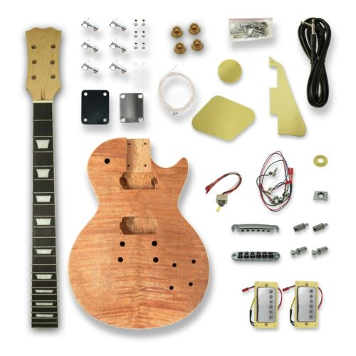 DIY Electric Guitar Kits for LP Style Electric Guitar, Okoume Wood Body