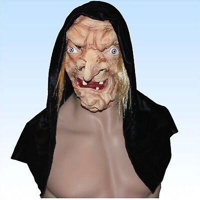 Halbmaske Hexe mit Umhang Hexenmaske Maske f. Kostüm Hexe böse Frau (Hexe Maskerade Maske)