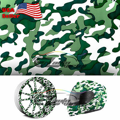 19x38 Hydrographic Film Hydro Dip Water Transfer Green Forest Camouflage 10