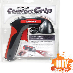 comfort grip aerosole spray paint gun can trigger tip handle control. Black Bedroom Furniture Sets. Home Design Ideas