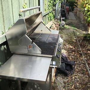 Saxon stainless steel BBQ  with hood, gas bottle and cover Sandy Bay Hobart City Preview