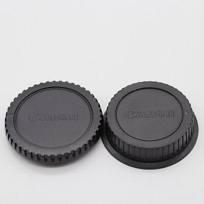 Camera Body Cap + Rear Lens Cover for Canon EOS 1200D 750D 550D 450D 5D Replace