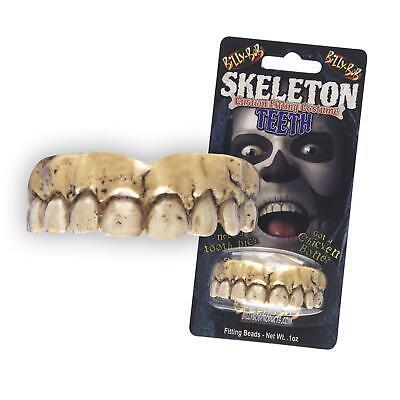 Adults Brown Fake Zombie Skeleton Teeth Custom Fit - Hillbilly Kostüm Halloween