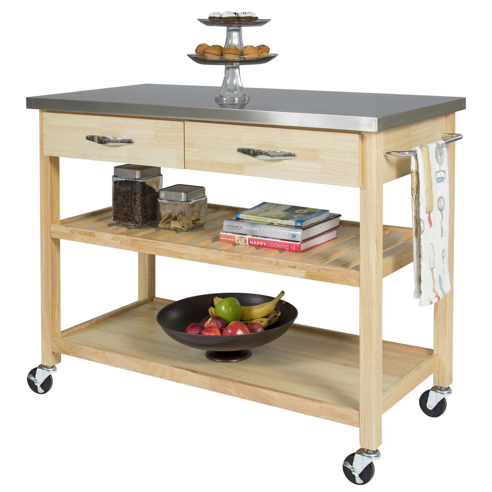 Best Choice Products Natural Wood Mobile Kitchen | eBay