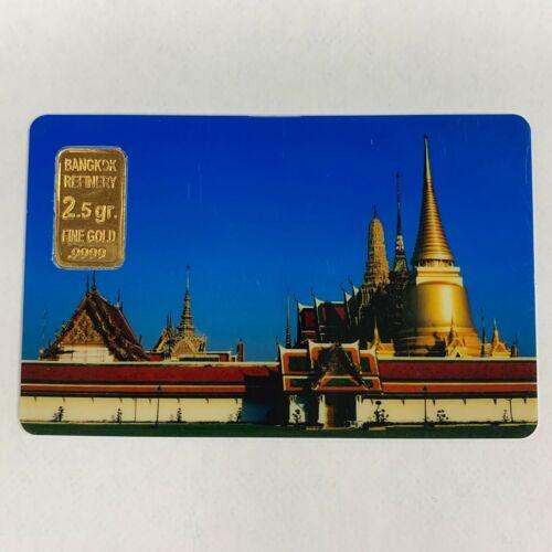 Bangkok Refinery 2.5 GRAM G FINE Gold .999 Bullion Investment Carded Assay Cert