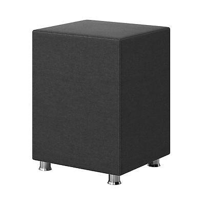 Nachttisch-hocker (Nachtkonsole Nachttisch Hocker Kara Würfel Cube anthrazit 40x40x60 Webstoff )
